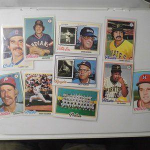 1975 Topps Baseball (10) Cards